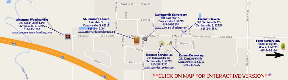 Damiansville Community Map